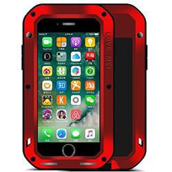 Чехол для Apple iPhone 7 Plus (Love Mei Powerful 859555) (красный)