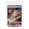 Exployd 530 8GB (красный) - USB Flash driveUSB Flash drive<br>Exployd 530 8GB - флэш-накопитель, объем 8 Гб, интерфейс USB 2.0, материал корпуса: пластик.<br>