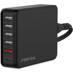 Сетевое зарядное устройство 6xUSB (Seenda ICH-03SQ35) (черный)