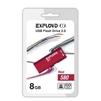 Exployd 580 8GB (красный) - USB Flash driveUSB Flash drive<br>Exployd 580 8GB - флеш-накопитель, объем 8Гб, USB 2.0, 15Мб/с, пластик, выдвижной разъем.<br>