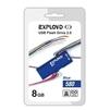 Exployd 580 8GB (синий) - USB Flash driveUSB Flash drive<br>Exployd 580 8GB - флеш-накопитель, объем 8Гб, USB 2.0, 15Мб/с, пластик, выдвижной разъем.<br>