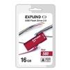 Exployd 580 16GB (красный) - USB Flash driveUSB Flash drive<br>Exployd 580 16GB - флеш-накопитель, объем 16Гб, USB 2.0, 15Мб/с, пластик, выдвижной разъем.<br>