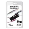 Exployd 580 16GB (черный) - USB Flash driveUSB Flash drive<br>Exployd 580 16GB - флеш-накопитель, объем 16Гб, USB 2.0, 15Мб/с, пластик, выдвижной разъем.<br>