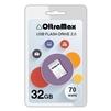 OltraMax 70 32GB (белый) - USB Flash driveUSB Flash drive<br>OltraMax 70 32GB - флеш-накопитель, объем 32Гб, USB 2.0, 20Мб/с, пластик<br>