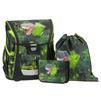Ранец Step By Step BaggyMax Fabby Green Dino (3 предмета) - Ранец, рюкзак, сумка, папкаРанцы, рюкзаки, сумки<br>Ранец Step By Step BaggyMax Fabby Green Dino - ортопедическая спинка, пенал, мешочек для обуви, место для расписания уроков, ручка для переноски, мягкие наплечные ремни, регулируемые по высоте.<br>