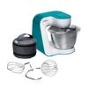 Bosch MUM 54D00 (белый, бирюзовый) - Кухонный комбайн, измельчительКухонные комбайны и измельчители<br>Bosch MUM 54D00 - комбайн, 900 Вт, чаша 3.9 л, 7 скоростей.<br>