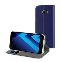Чехол-книжка для Samsung Galaxy A3 2017 (Muvit Folio Stand Case MUFLS0083) (синий)