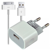 Smartbuy NITRO + кабель 30pin (SBP-1003-30) (белый) - Сетевое зарядное устройствоСетевые зарядные устройства<br>Сетевое зарядное устройство, вых.ток 1А, 1USB, в комплекте кабель USB-30 pin.<br>