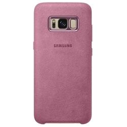 Чехол-накладка для Samsung Galaxy S8 Plus (Alcantara EF-XG955APEGRU) (розовый)