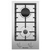 Electronicsdeluxe TG2 400215F-003 - Варочная поверхностьВарочные панели<br>Electronicsdeluxe TG2 400215F-003 - газовая варочная панель, независимая, нержавеющая сталь, 2 газовые конфорки, переключатели поворотные, электроподжиг, 28.8x51 см.<br>
