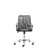 Кресло Recardo Smart 60 (черный) - Стул офисный, компьютерныйКомпьютерные кресла<br>Материал - сетка/кожа, высота 960-1050 мм, спинка 520 мм, Ш500*Г490, крестовина 700 мм, ограничение по весу -  120кг, газлифт, качание, откидывание.<br>