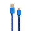 Кабель USB-microUSB (OXION OX-DCC288BL) (синий) - Usb, hdmi кабель, переходникUSB-, HDMI-кабели, переходники<br>Усиленный дата-кабель для синхронизации и зарядки мобильных устройств с разъемом microUSB. Разъемы USB-microUSB, тип USB 2.0, длина 1 м, в оплетке.<br>