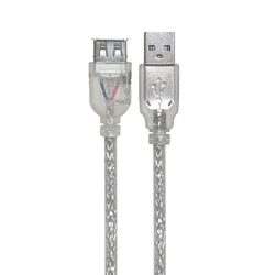 Кабель-удлинитель USB AM - USB AF 1.0м (Greenconnect GCR-UEC2M-BB2S-1.0m) (прозрачный)