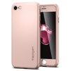 Чехол-накладка для Apple iPhone 7 Spigen Thin Fit 360 (042CS21099) (розовое золото) - Чехол для телефонаЧехлы для мобильных телефонов<br>Обеспечит защиту смартфона со всех сторон, закаленное стекло убережет экран от царапин.<br>