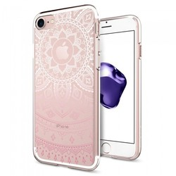 Чехол-накладка для Apple iPhone 7 (Spigen Liquid Crystal 042CS20958) (розовый)