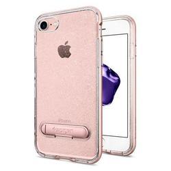 Чехол-накладка для Apple iPhone 7 (Spigen Crystal Hybrid Glitter 042CS21213) (розовое золото)