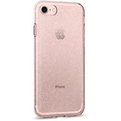 Чехол-накладка для Apple iPhone 7 (Spigen Liquid Crystal Glitter 042CS21419) (кристально-розовый)