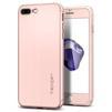 Чехол-накладка для Apple iPhone 7 Plus Spigen Thin Fit 360 (043CS21102) (розовое золото) - Чехол для телефонаЧехлы для мобильных телефонов<br>Обеспечит защиту смартфона со всех сторон, закаленное стекло убережет экран от царапин.<br>
