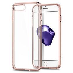 Чехол-накладка для Apple iPhone 7 Plus (Spigen Ultra Hybrid 2 043CS21136) (кристально-розовый)