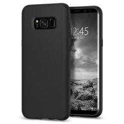 Чехол-накладка для Samsung Galaxy S8 (Spigen Case Liquid Crystal 565CS21613) (матовый черный)