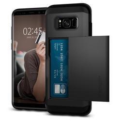 Чехол-накладка для Samsung Galaxy S8 (Spigen Slim Armor Card Slider 565CS21620) (черный)