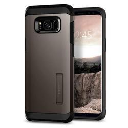 Чехол-накладка для Samsung Galaxy S8 (Spigen Tough Armor 565CS21641) (стальной)