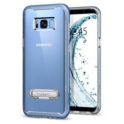 Чехол-накладка для Samsung Galaxy S8 (Spigen Crystal Hybrid 565CS20837) (голубой коралл)