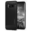 Чехол-накладка для Samsung Galaxy S8 (Spigen Rugged Armor 565CS21609) (черный) - Чехол для телефонаЧехлы для мобильных телефонов<br>Защитит смартфон от грязи, пыли, брызг и других внешних воздействий.<br>