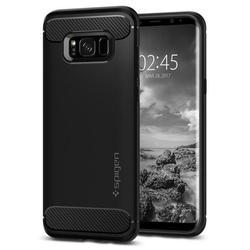 Чехол-накладка для Samsung Galaxy S8 (Spigen Rugged Armor 565CS21609) (черный)