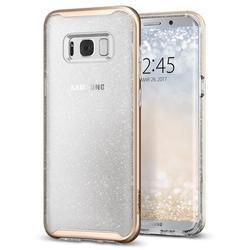 Чехол-накладка для Samsung Galaxy S8 Plus (Spigen Neo Hybrid Crystal Glitter 571CS21658) (золотой кварц)