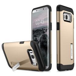 Чехол-накладка для Samsung Galaxy S8 Plus (Spigen Slim Armor 571CS21123) (золотистый)