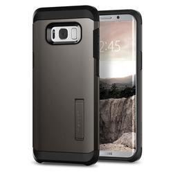 Чехол-накладка для Samsung Galaxy S8 Plus (Spigen Tough Armor 571CS21693) (стальной)