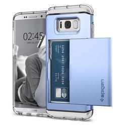 Чехол-накладка для Samsung Galaxy S8 Plus (Spigen Crystal Wallet 571CS21118) (голубой коралл)