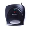Endever Skyline SM-23 (черный) - СэндвичницаСэндвичницы и приборы для выпечки<br>Мощность 800 Вт, 3 сменные панели для приготовления: вафлей, сэндвичей или гриля, корпус из термостойкого биопластика, антипригарное покрытие, индикатор включения, индикатор готовности к работе, эргономичная ненагревающаяся ручка.<br>