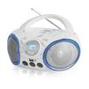 BBK BX150BT (белый, голубой) - МагнитолаМагнитолы<br>Мощность - 4Вт, поддержка CD, CDRW, воспроизведение MP3, WMA, интерфейс USB.<br>