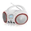 BBK BX150BT (белый, красный) - МагнитолаМагнитолы<br>Мощность - 4Вт, поддержка CD, CDRW, воспроизведение MP3, WMA, интерфейс USB.<br>