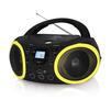 BBK BX150BT (черный, желтый) - МагнитолаМагнитолы<br>Мощность - 4Вт, поддержка CD, CDRW, воспроизведение MP3, WMA, интерфейс USB.<br>