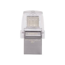 Kingston DataTraveler microDuo 3C 128GB (серебристый)