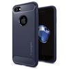 Чехол-накладка для Apple iPhone 7 (Spigen Rugged Armor 042CS21188) (темно-синий) - Чехол для телефонаЧехлы для мобильных телефонов<br>Чехол-накладка защитит смартфон от грязи, пыли, брызг и других внешних воздействий.<br>