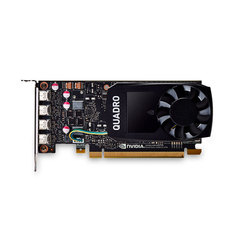 PNY Quadro P1000 1265Mhz PCI-E 3.0 4096Mb 5000Mhz 128 bit 4xminiDisplay Port Bulk