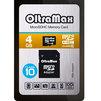 OltraMax microSDHC Class 10 4GB + SD adapter - Карты памятиКарты памяти<br>OltraMax OM004GCSDHC10 - карта памяти microSDHC, Class 10, объем 4 Гб, в комплекте адаптер на SD.<br>