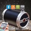 Ginzzu GM-885B - Колонка для телефона и планшетаПортативная акустика<br>Bluetooth колонка с FМ-радио и караоке, два микрофонных входа 6.5 mm, регулировка громкости и эхо для микрофонов, сабвуфер и LED дисплей, аудио-плеер - SD, USB-flash, AUX-in, аккумулятор 3000 mAh, поддержка форматов аудио файлов - MP3, WAV.<br>