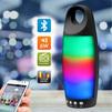 Ginzzu GM-895B - Колонка для телефона и планшетаПортативная акустика<br>Портативная Bluetooth колонка с FM-радио, цветомузыка, аккумулятор 1500 mAh, аудио-плеер для USB-flash и microSD до 32 ГБ, AUX 3.5 мм для внешнего аудио-источника, поддержка MP3, WMA, до 4 часов воспроизведения музыки.<br>