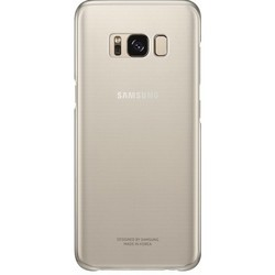 Чехол-накладка для Samsung Galaxy S8 Plus (Clear Cover EF-QG955CFEGRU) (золотистый)