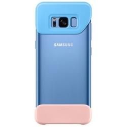 Чехол-бампер для Samsung Galaxy S8 (2Piece Cover EF-MG950CLEGRU) (голубой, персиковый)