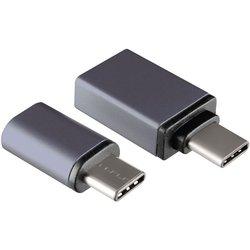 Комплект переходников USB 3.1 Type-C/microUSB+USB 3.1 Type-C/USB 3.0 (GINZZU GC-885B) (черный)