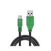 Кабель интерфейсный USB 2.0 USB(m)- mini 5P 1.5m (Greenconnect GCR-UM3M5P-BB2S-1.5m) (черный, зеленый) - Кабель, переходникКабели, шлейфы<br>Позволяет подключать мобильные устройства, которые имеют разъем Mini USB 5pin к USB AF разъему компьютера. Подходит для повседневных задач, таких как синхронизация данных и передача файлов. AWG 28/28.<br>