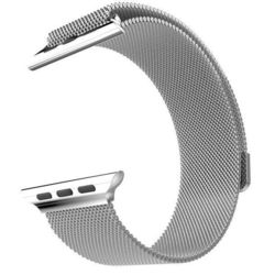 Ремешок для Apple Watch 42mm (Hoco Milanese Loop) (серебристый)
