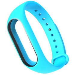 Ремешок для Хiaomi Mi Band 2 (Хiaomi Mi Band 2 Silicon 800920) (голубой)