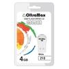 OltraMax 210 4GB (белый) - USB Flash driveUSB Flash drive<br>Флэш-накопитель 4 Гб, интерфейс USB 2.0, скорость чтения/записи: 15/8 Мб/с.<br>